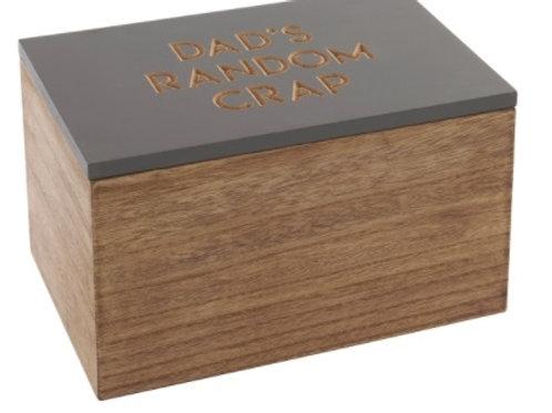 Dad's Random Crap - Wooden Storage Box