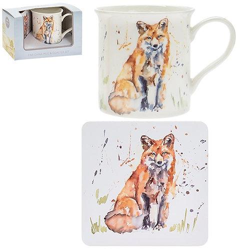 Country Life Fox Mug & Coaster Set