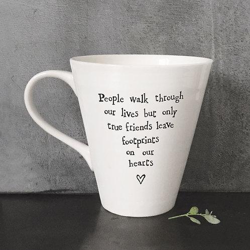 East Of India - True Friends Leave Footprints - Boxed Mug