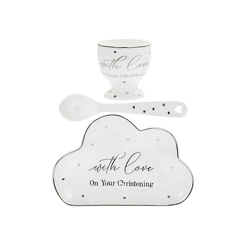 Christening - Mad Dots Egg Cup Set