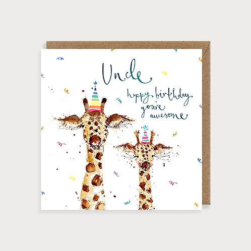 Uncle Birthday Card - Giraffes
