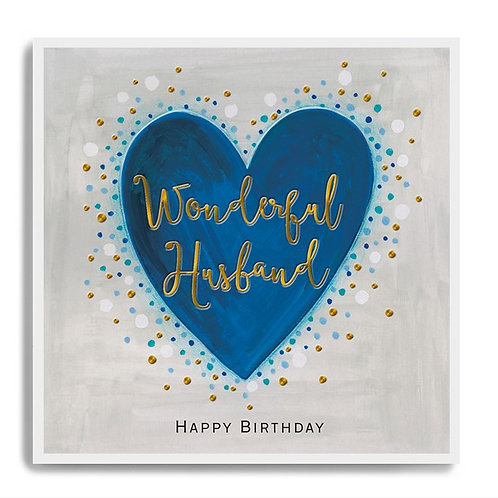 Wonderful Husband - Birthday Card