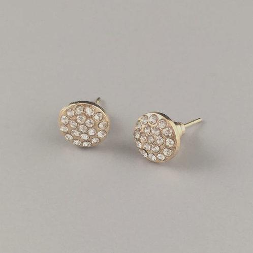 Daisy - Gold Crystal Earrings