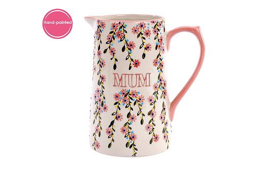 Mum Floral Ceramic Jug
