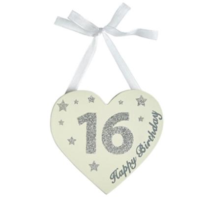 16th Birthday Glitter Heart