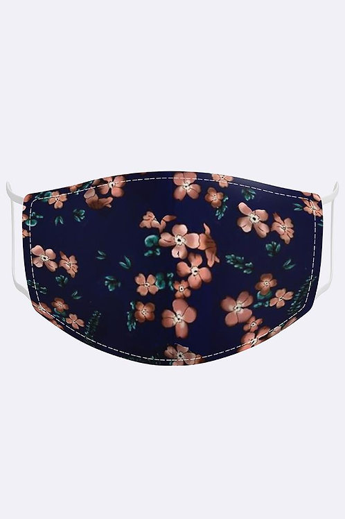 Adults Clover Floral Print Cotton Face Mask/Covering