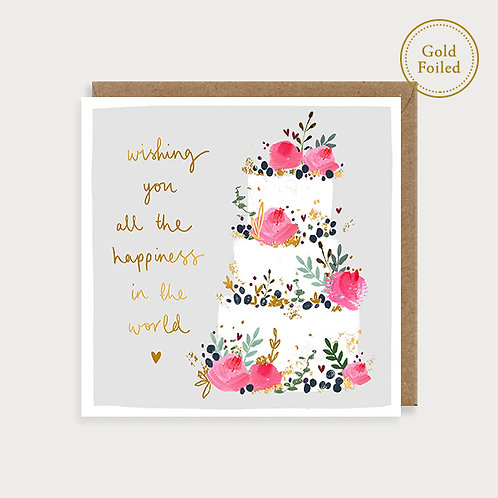 Wishing You All The Happiness - Wedding Day Card