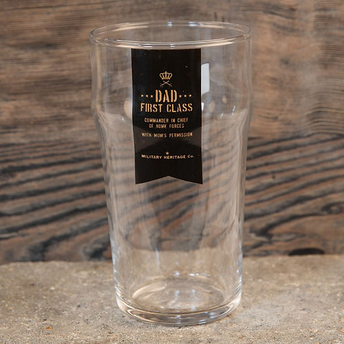 Dad First Class - Beer Glass
