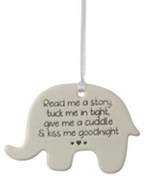 Elephant Ceramic Hanger - Read Me A Story