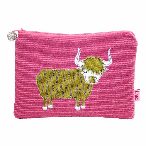 Lua - Highland Cow Coin Purse - Pink