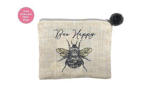 Bee Happy Pom Pom Pouch