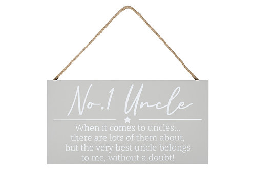 No1 Uncle Hanging Sign
