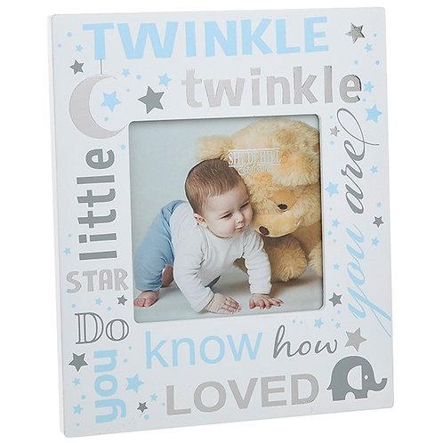 Twinkle Twinkle Little Star Frame - Blue