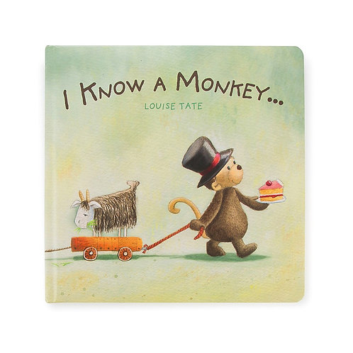Jellycat - 'I Know A Monkey' Book