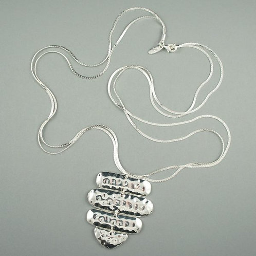 Sheena - Long Silver Necklace (Single Chain)