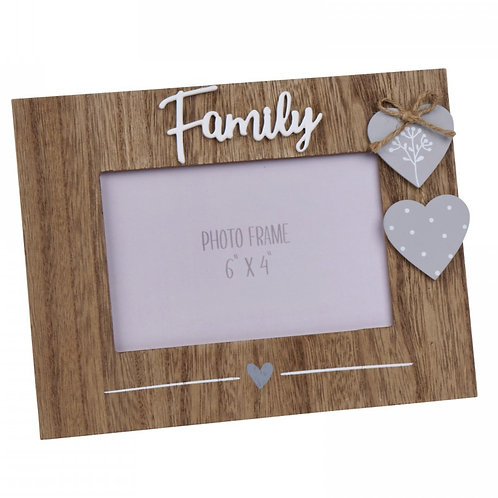 Family - Rustic Photo Frame