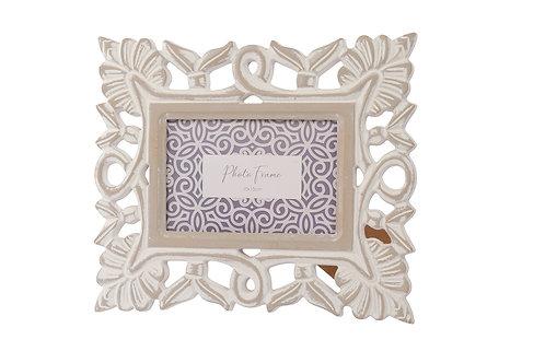 Grey Washed Wooden Ornate Frame