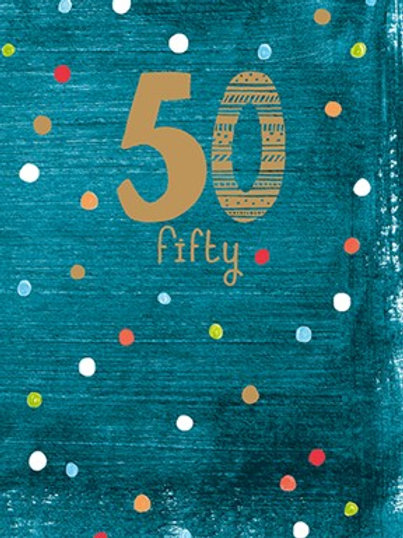 50th Birthday Card - Male
