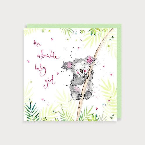 Baby Girl Card - Koala