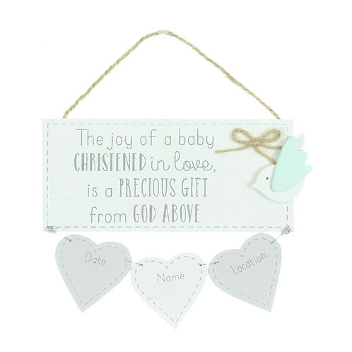 Christening Date Plaque