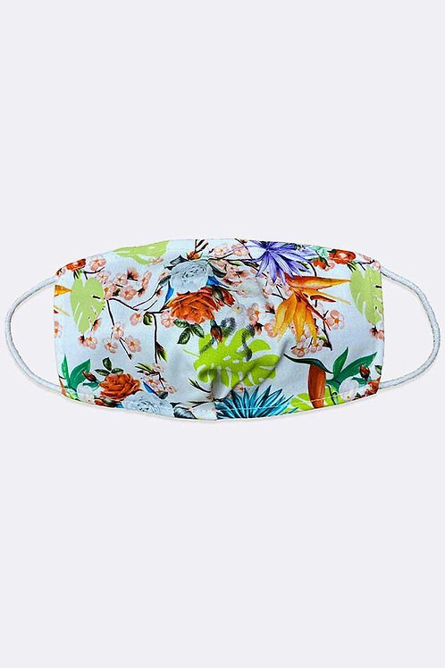 Adults Tropical Print Cotton Face Mask/Covering