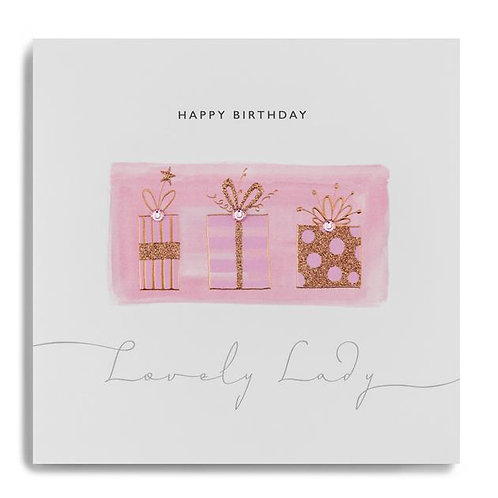 Lovely Lady - Birthday Card
