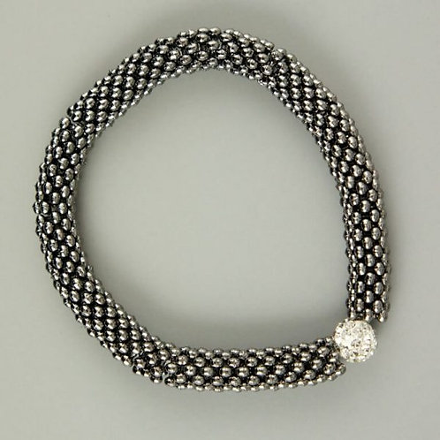 Macao - Black Crystal Bracelet