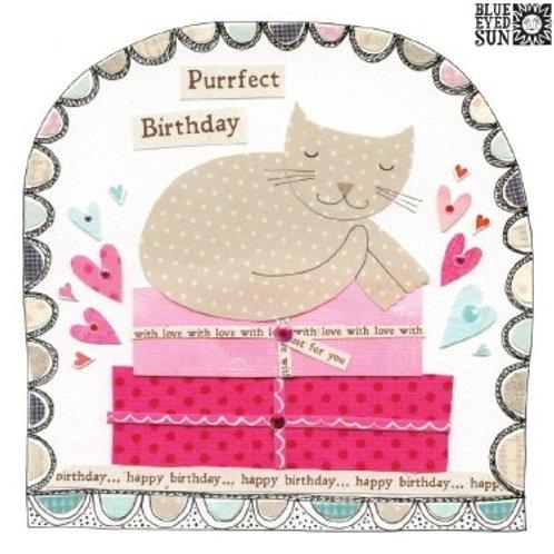 Cat Purrfect Birthday Card