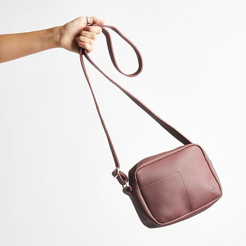 Cuban Cross Body Bag - Vegan Friendly - Maroon