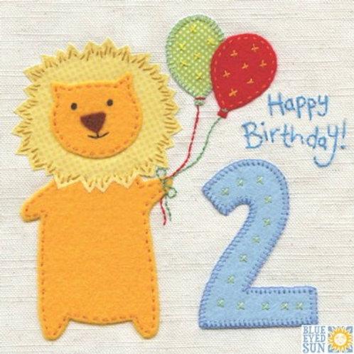 2nd Birthday Card - Boy