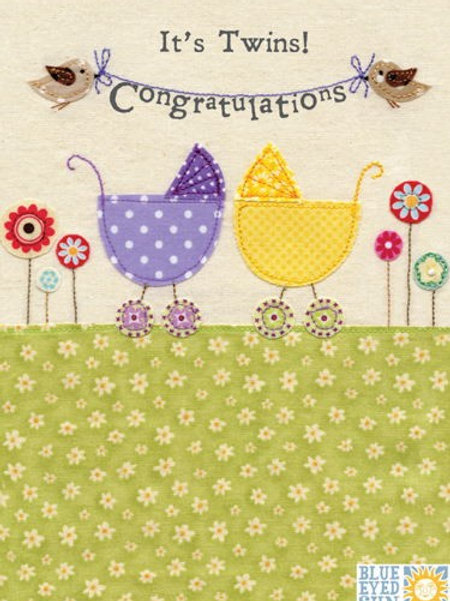 Twins Congratulations Card