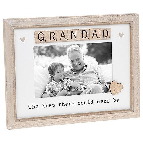Grandad Sentiment Scrabble Photo Frame