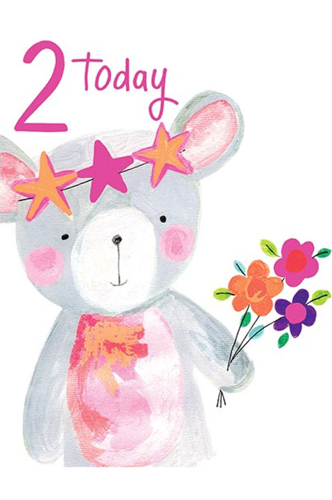 2nd Birthday Card - Girl