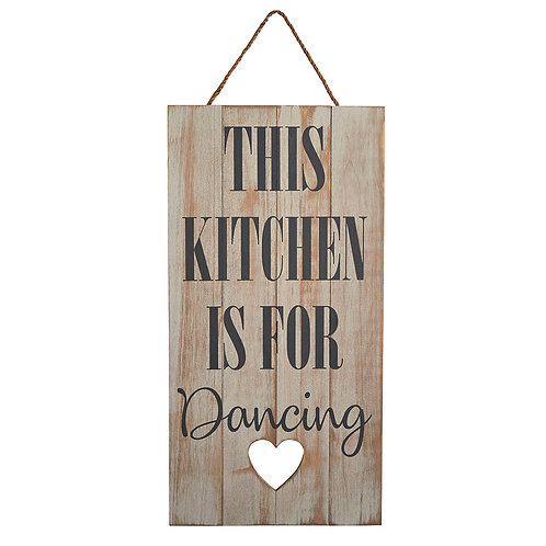 'This Kitchen Is For Dancing' Sign
