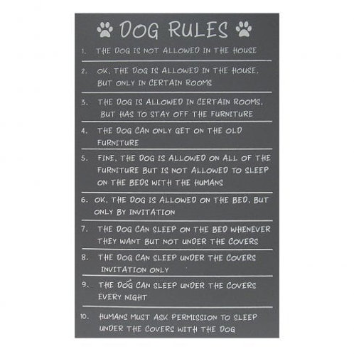 Dog Rules - Plaque