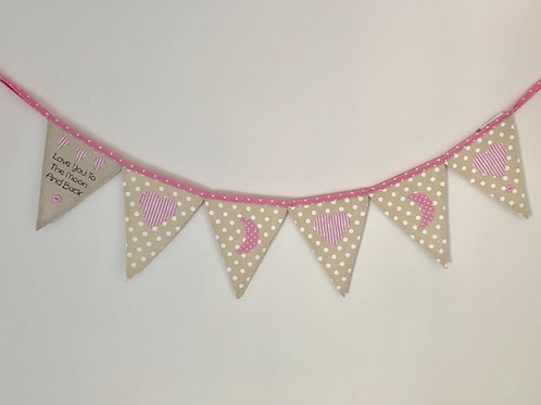 Love You To The Moon & Back - Pink Bunting