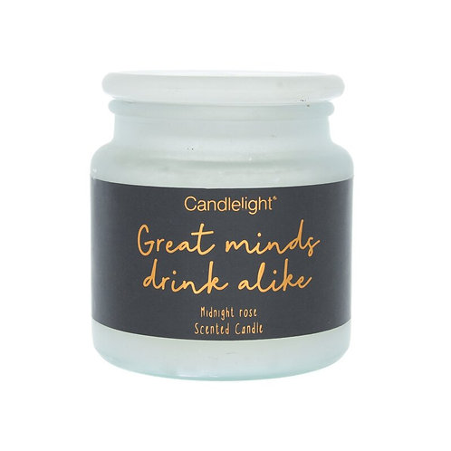 Candlelight 'Great Minds Drink Alike' Large Candle - Midnight Rose