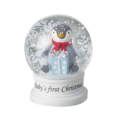Baby's First Christmas Penguin Snowglobe (Sml)