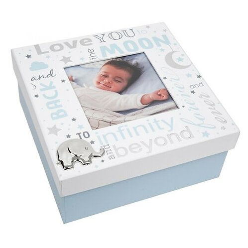 Love You To The Moon - Blue Keepsake Box