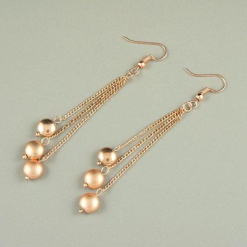 Beau - Rose Gold Earrings