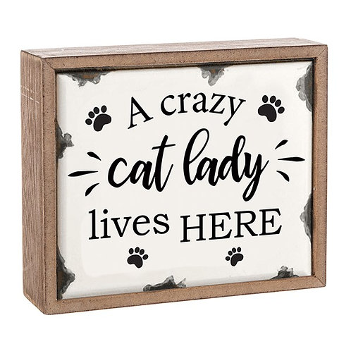 Crazy Cat Lady - Plaque