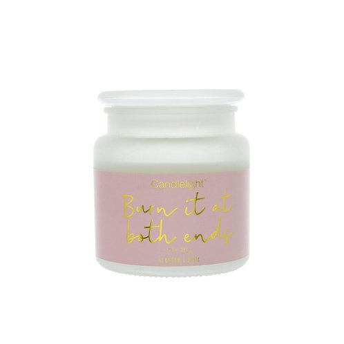 Candlelight 'Burn it At Both Ends' Large Candle - Pink Petal