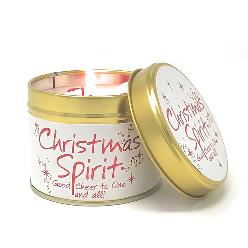 Lily Flame - Scented Tin Candle - Christmas Spirit