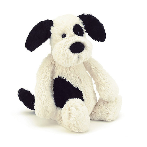 Jellycat - Bashful Cream & Black Puppy (Sml)