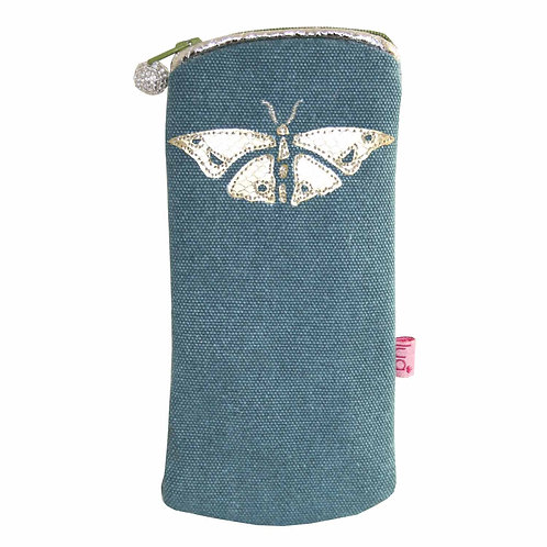 Lua - Butterfly Glasses Case - Teal