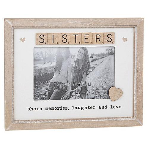 Sister Sentiment Scrabble Photo Frame