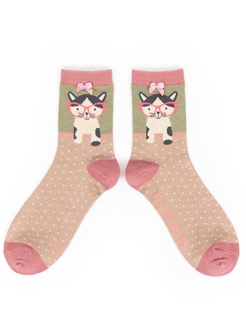 Powder UK - Pussy In Specs Ankle Socks