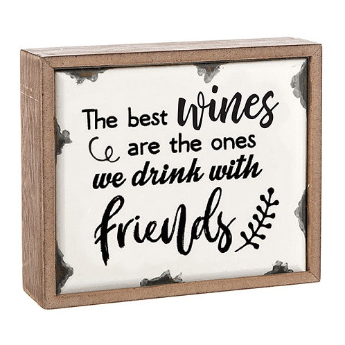 Drink With Friends - Plaque