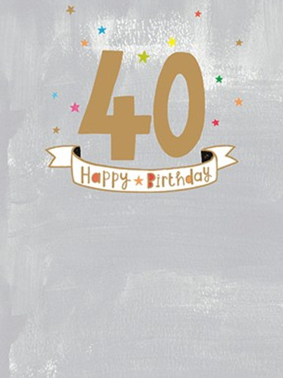 40th Birthday Card - Male