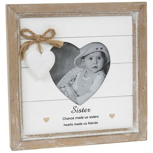 Sister - Provence Heart Photo Frame